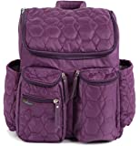 Wallaroo Diaper Bag Backpack with Stroller Straps, Wet Bag and Diaper Changing Pad – For Women and Men - PURPLE - MEDIUM