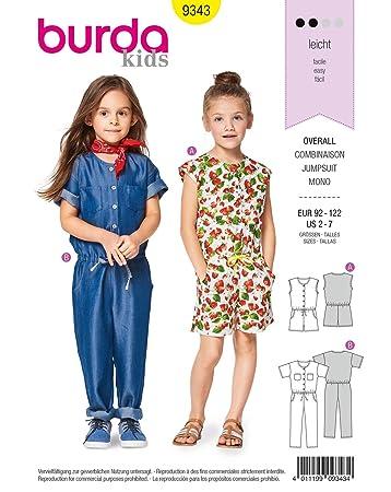 Burda Patron Kids 9343 Kombination, Weiß, 2-7 Jahre: Amazon.de ...