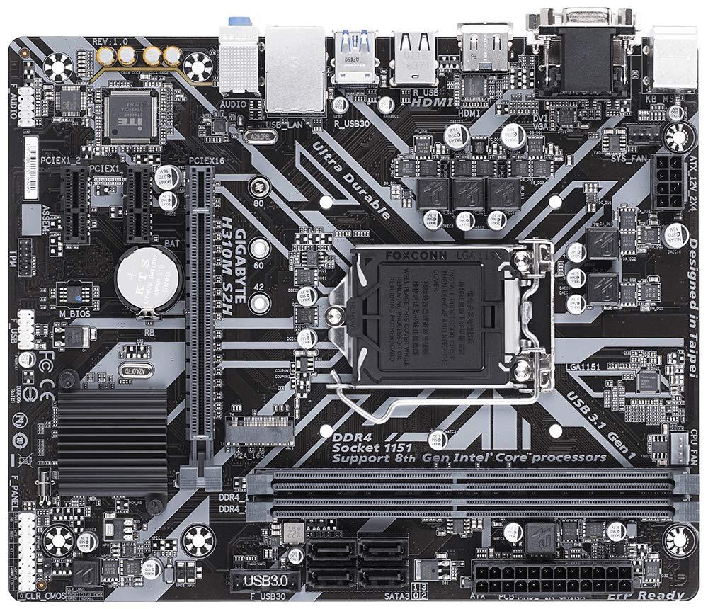 Gigabyte H310M S2H Sockel 1151-v2 Mainboard schwarz
