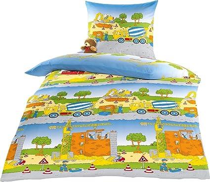 estafador Chip Inhibir  Bierbaum 2325 - Juego de sábanas infantiles (80 x 80 cm y 135 x 200 cm),  diseño de búhos: Amazon.es: Hogar