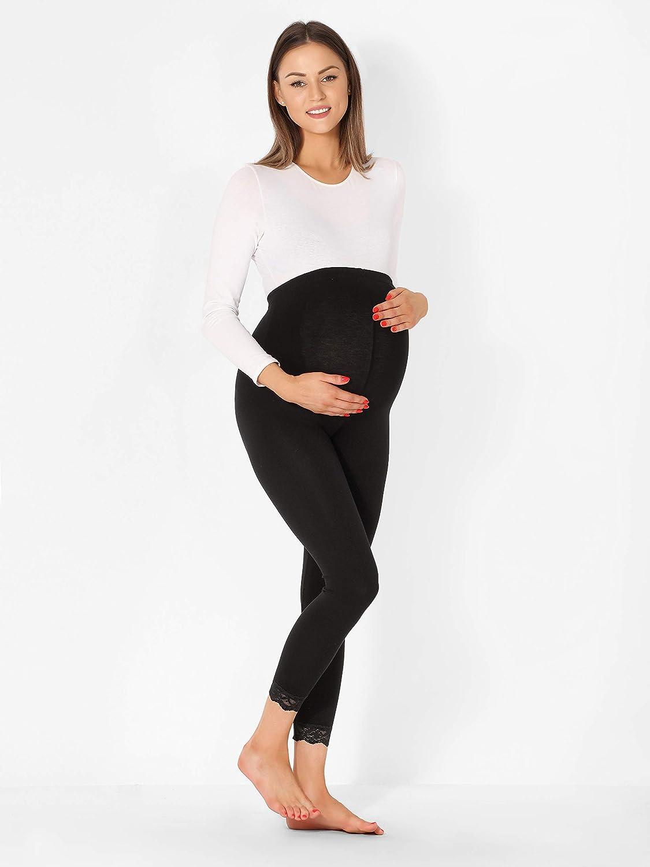 Be Mammy Legging 7//8 Grossesse Maternit/é Tenue Sport BE20-262