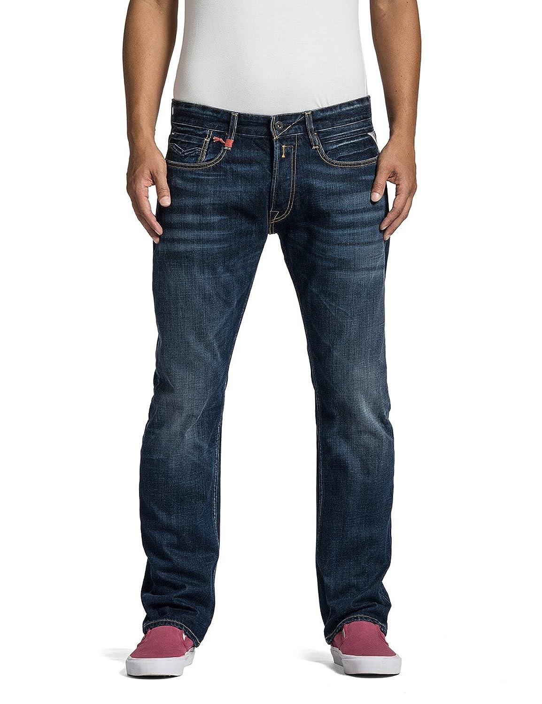 Replay Herren Straight Leg Jeanshose NEWBILL, Gr. W33/L34 (Herstellergröße: 33), Blau (Blue Denim 7)