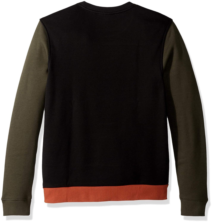9dcf94486f Lacoste Men's Crew Neck Colorblock Fleece Sweatshirt
