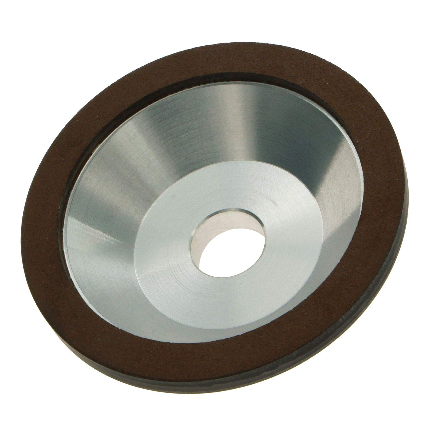 GZTool 4'' Resin Bonded Diamond Cup Grinding Wheel Grit 80 for Carbide Metal Steel Mold Pottery 100mm 20mm
