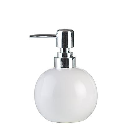axentia dispensador de jabón Leander, Decorativa Accesorios de baño, Ovalada Dosificador para jabón líquido