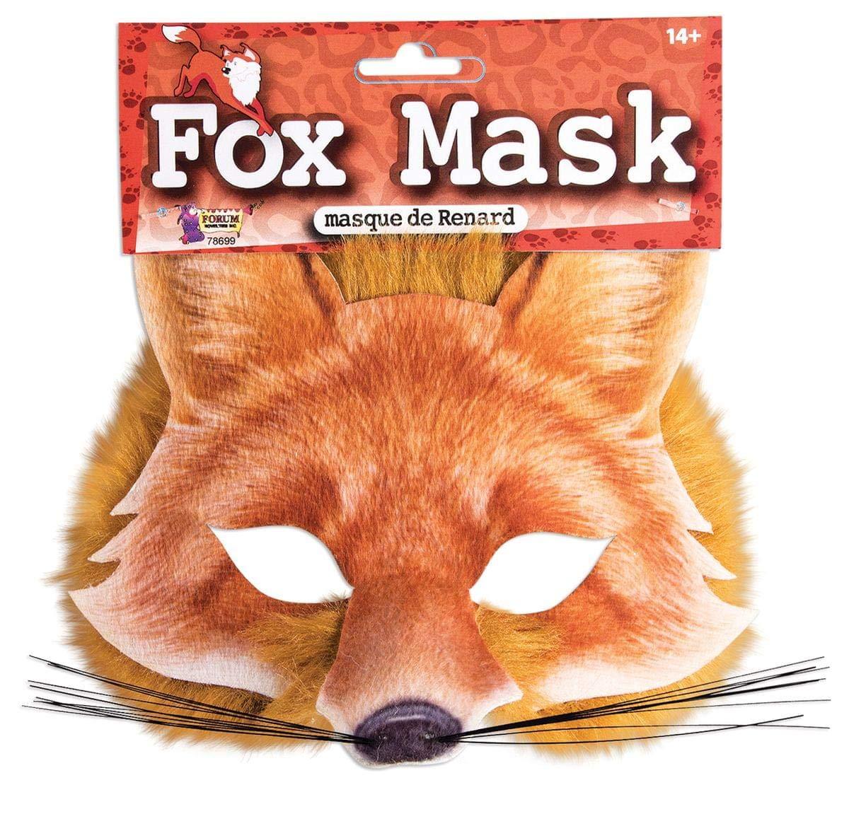 Forum Novelties 78699 Unisex-Adults Half Mask-Fox, Light Brown, Standard, One Size, Multicolor