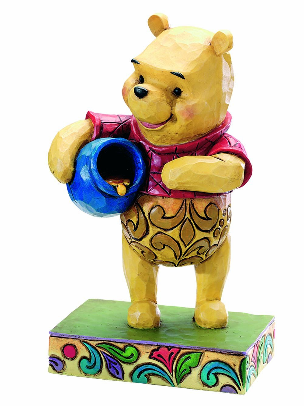 Enesco Disney Traditions by Jim Shore 4008081 Winnie The Pooh with Honey Pot Personality Pose Figurine 4-1/2-Inch