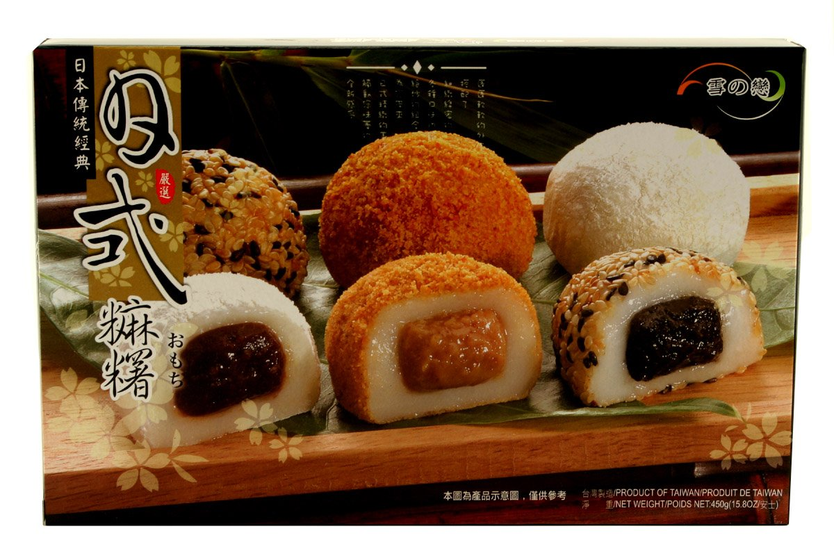 Japanese Style Mochi (Assorted) 15.8oz (Pack of 1)