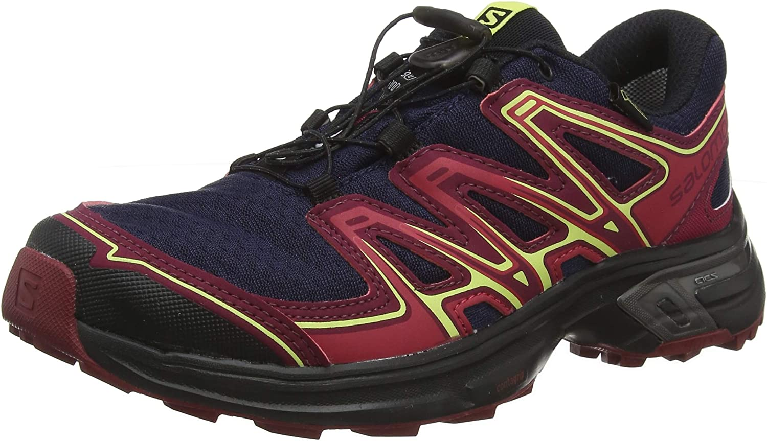 Details about Salomon Wings Flyte 2 GTX, Men's Trail Running Shoes BlackFiery RedRed Dalhia