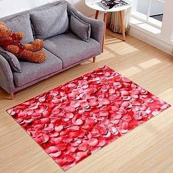 Amazon.com: 3D Rose Petal Living Room Bedroom Bedside Area Rug 24 by ...