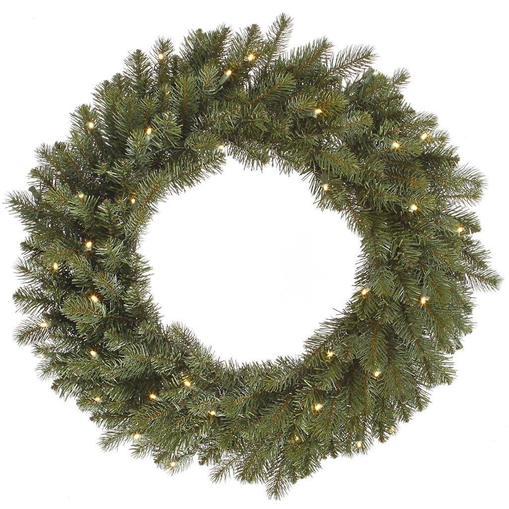 Vickerman 456200 - 60'' Colorado Spruce 400 Warm White LED Lights Christmas Wreath (A164361LED)
