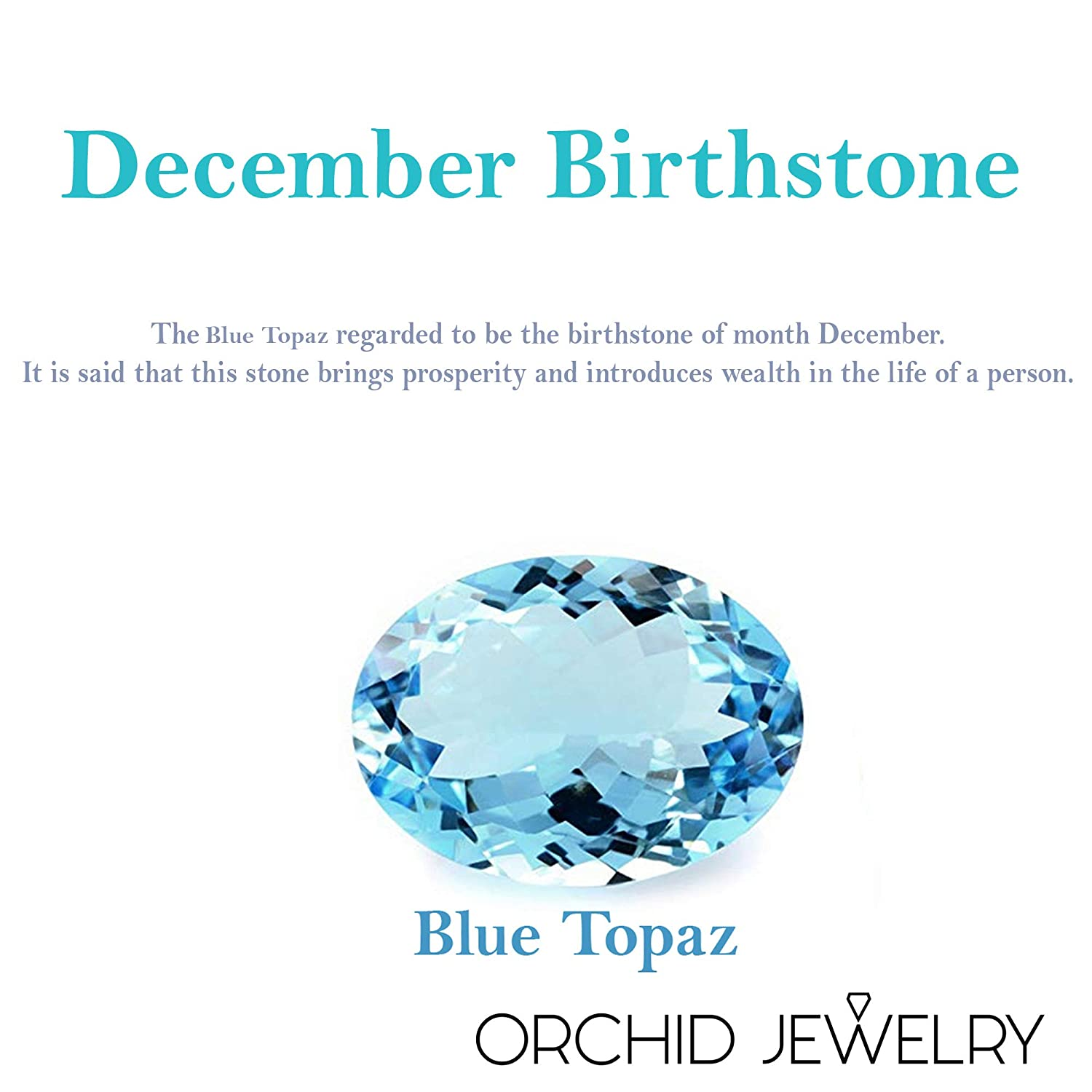 Genuine Blue Topaz Gemstone Charm Pendant Necklace By Orchid Jewelry December Birthstone Simple Gold Plated OverLay 925 Sterling Silver Jewelry Gifts for women 21.45 Ctw