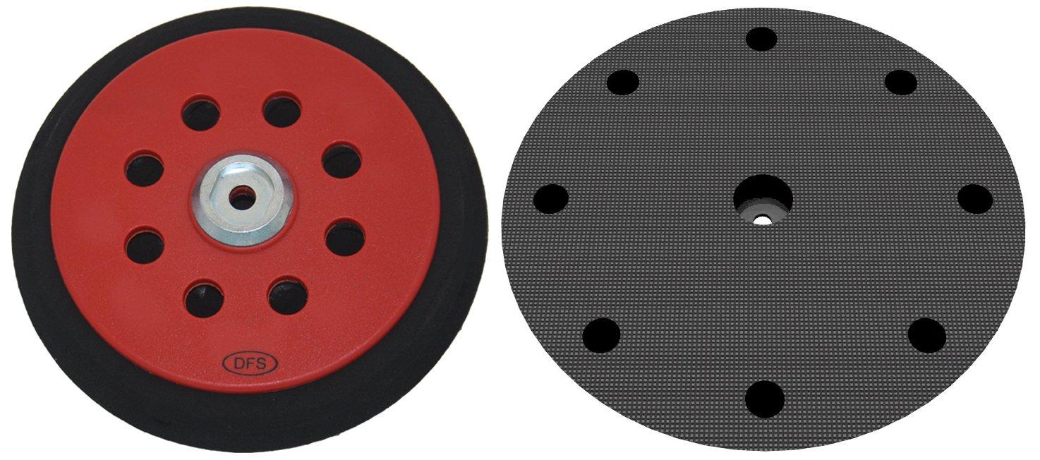 Schleifteller medium f/ür Festool RO150 Klett-Schleifscheiben /Ø 150mm in hart medium und soft verf/ügbar DFS St/ützteller mit 8+1-Loch Absaugung