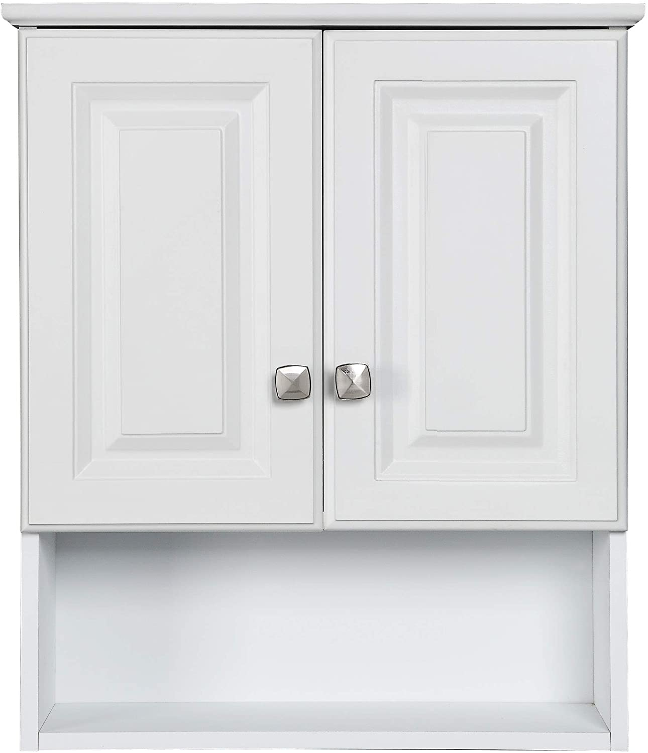 Design House 531715 Wyndham White Semi Gloss Bathroom Wall Cabinet With 2 Doors And 1 Shelf 22 Inches Wide By 26 Inches Tall By 8 Inches Deep Home Improvement