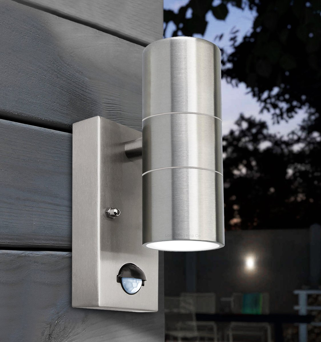 Stainless Steel Outside Wall Lights With Pir : PIR Stainless Steel Up Down Outdoor Wall Light With Movement Sensor ZLC0204 IP65 eBay