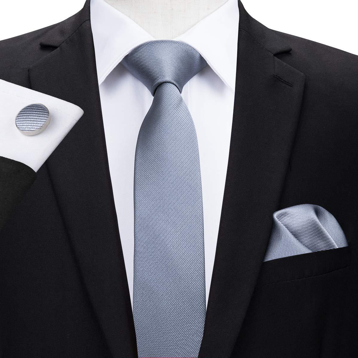 HYCZJH 5.5 cm de Seda Corbatas Delgadas Corbata Conjunto para los ...