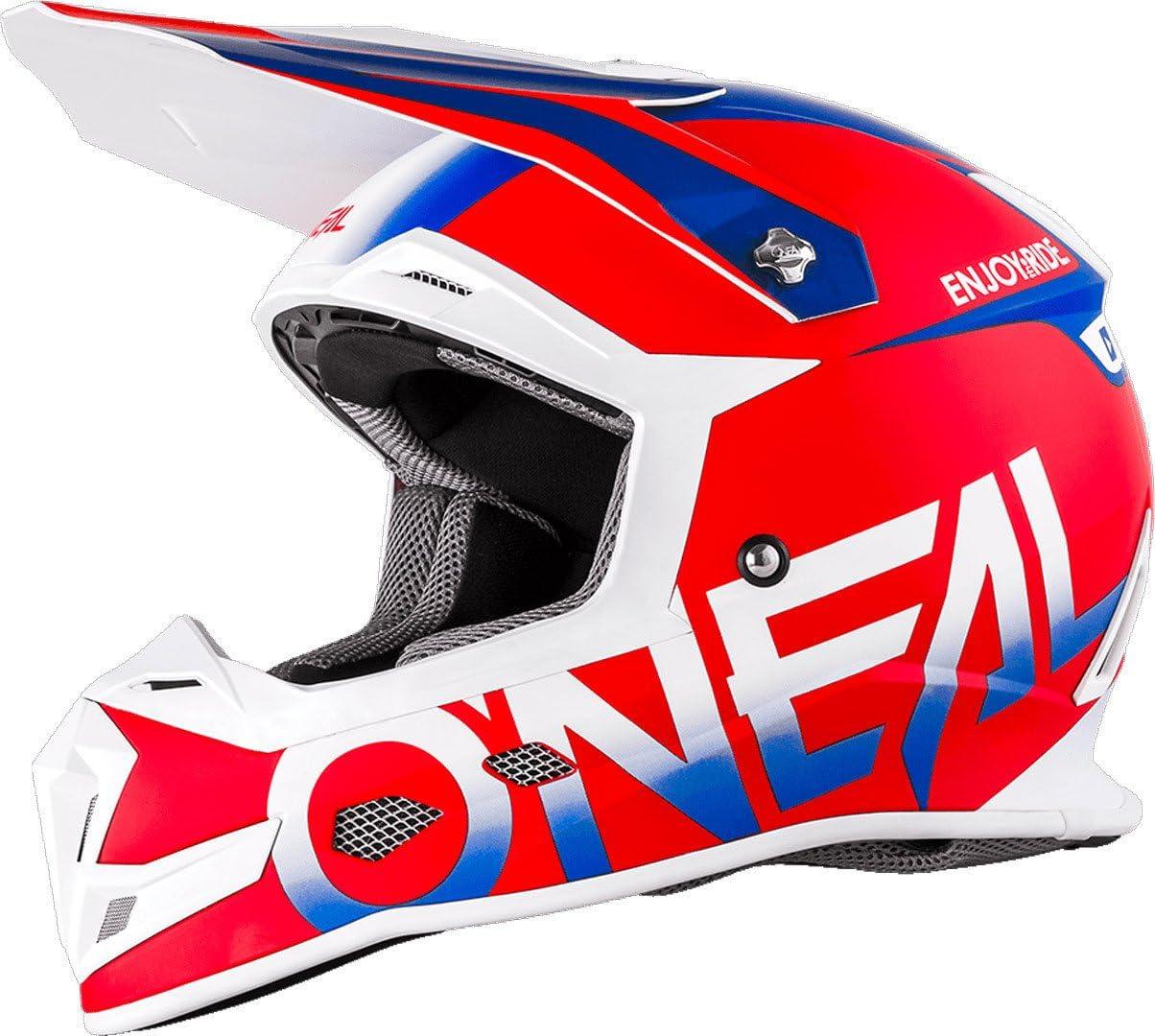 61-62cm Oneal 5 Series Blocker Motocross Enduro MTB Helm rot//blau//wei/ß 2018 Oneal Gr/ö/ße XL