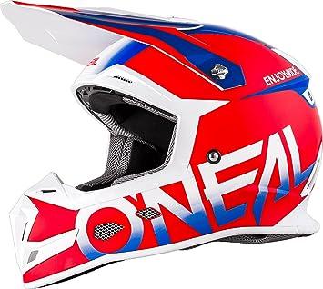 O/'neal 3 Series Attack Motocross Enduro MTB Helm schwarz//rot//türkis 2018 Oneal