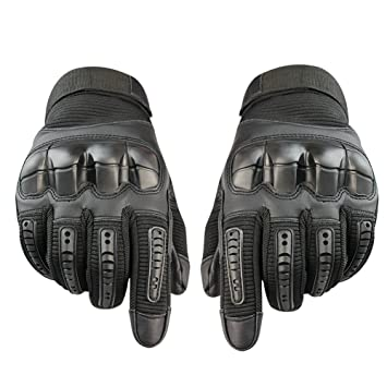 Gants Moto, Gants Scooter Moto Mi Saison Femme Homme Plein-Doigt Ecran  Tactile Respirable 41b5872a1e5