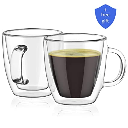 amazon com maria espresso cups insulated double wall glasses 5 4