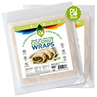 Certified Organic, All Natural, Paleo, Gluten Free, Vegan Non-GMO, Kosher Raw Veggie NUCO Coconut Wraps. NO Salt Added Low Carb and Yeast Free 10 Count Various Quantities