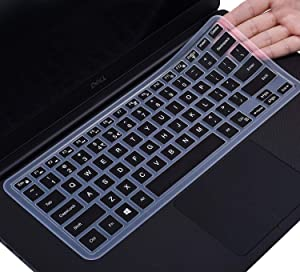 "Keyboard Cover Protector Skin for DELL XPS 15-7590 15-9570 15-9550 15-9560 15.6"" Laptop, DELL Precision 5510 5530 5540 M5510 15.6 inch (NOT fit DELL XPS 15 9575), Black"