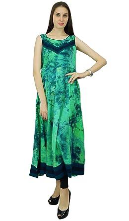 7d75cce804b64c Phagun Tie   Dye Print Rayon Kurta Anarkali Ethnic Kurti Designer Dress at  Amazon Women s Clothing store