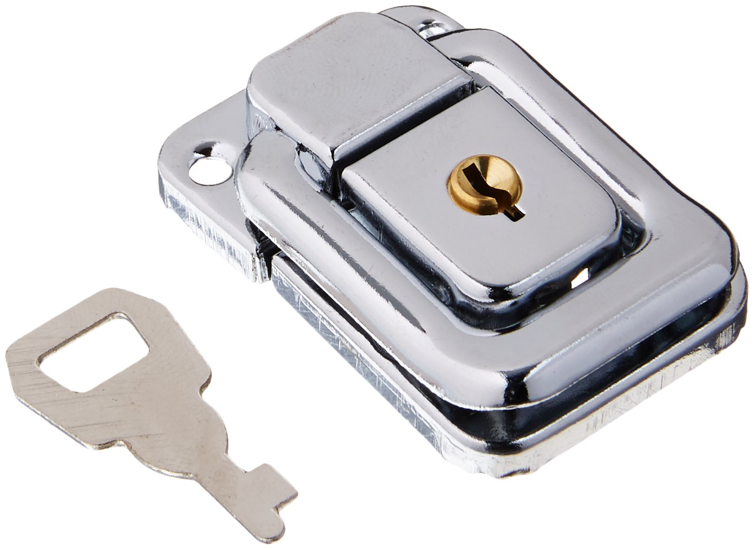 Uxcell a15122800ux1023 48mmx32mm Suitcase Box Chest Trunk Lock Toggle Catch Latch Silver Tone