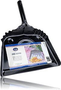 Fuller Brush 12-Inch Metal Dustpan - Wide Sweep & Heavy Duty Steel Dust Pan w/Easy Grip Handle & Hook Hanger for Easy Storage - Mini Dusting & Handheld Cleaning Tool