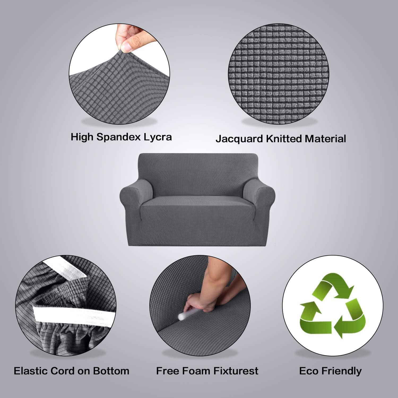Amazon.com: H.VERSAILTEX - Funda para sofá de licra jacquard ...