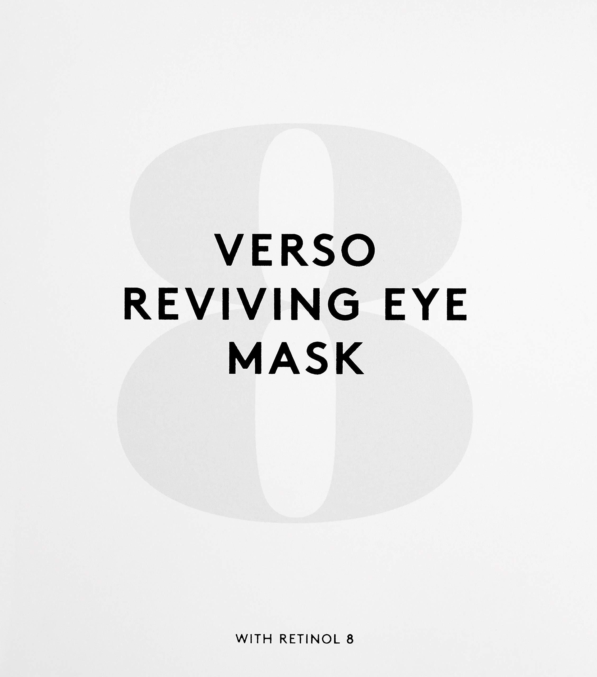 Verso Skincare Reviving Eye Mask, 4 Count
