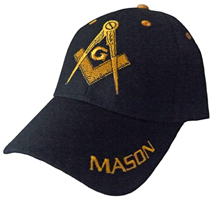 Image Unavailable. Image not available for. Color  MASON Baseball Cap  Freemason Masonic Black Hat Mens Adjustable 34f2784265af