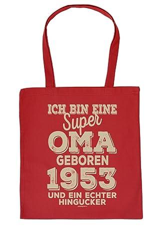 Zum 66 Geburtstag Geschenk Stofftasche Ich Bin Eine Super Oma