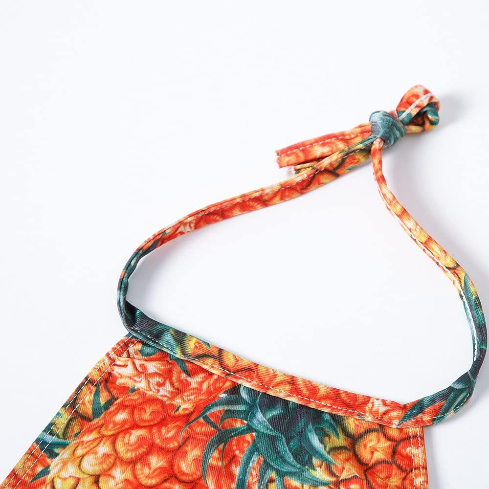 KONFA Teen Baby Girls Swimwear Pineapple Print Bathing Rompers,Suitable for 2-12 Years Old,Beachwear Swimsuit Cover Up Set