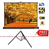 Elcor Tripod Type Projector Screen 6 Ft. (Width) X 4 Ft. (Height) With Tripod Stand For 3D And Full HDTV