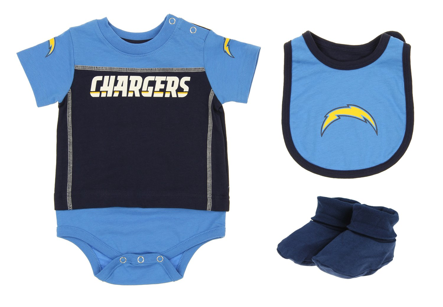 e6679cf6a Amazon.com  Outerstuff San Diego Chargers NFL Baby Boys Newborn Infant LIL   Jersey 3 Piece Bodysuit Set  Sports   Outdoors