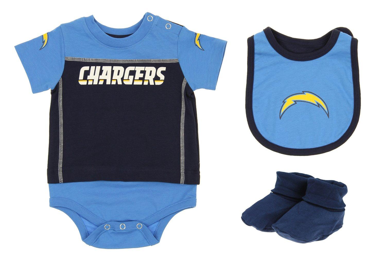 e6679cf6a Amazon.com  Outerstuff San Diego Chargers NFL Baby Boys Newborn Infant LIL   Jersey 3 Piece Bodysuit Set  Sports   Outdoors