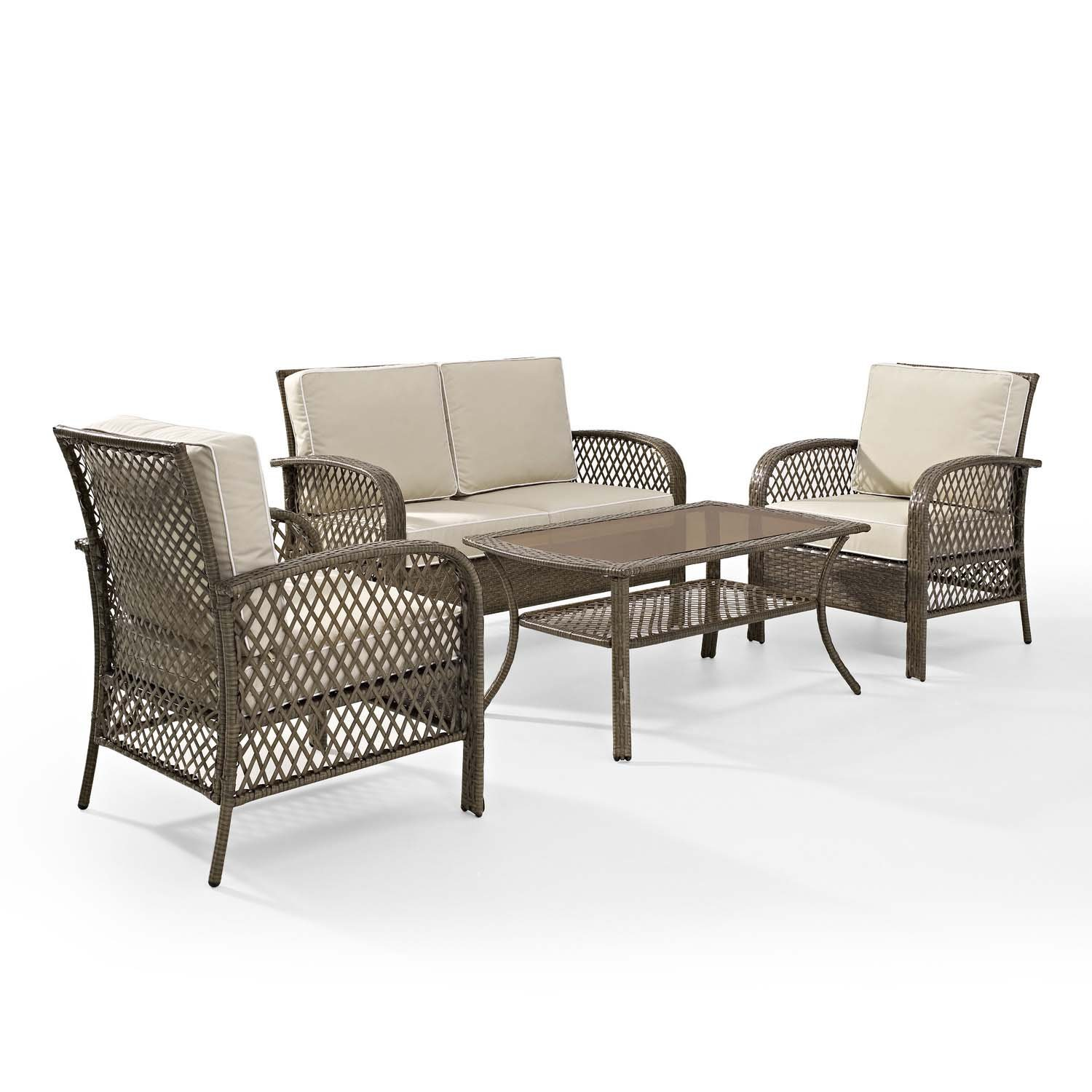 Amazon Tribeca 4 Piece Deep Seating Group Outdoor Patio