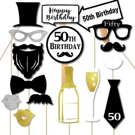 Amazon Paper Gala 50th Birthday Men Fiftieth Party