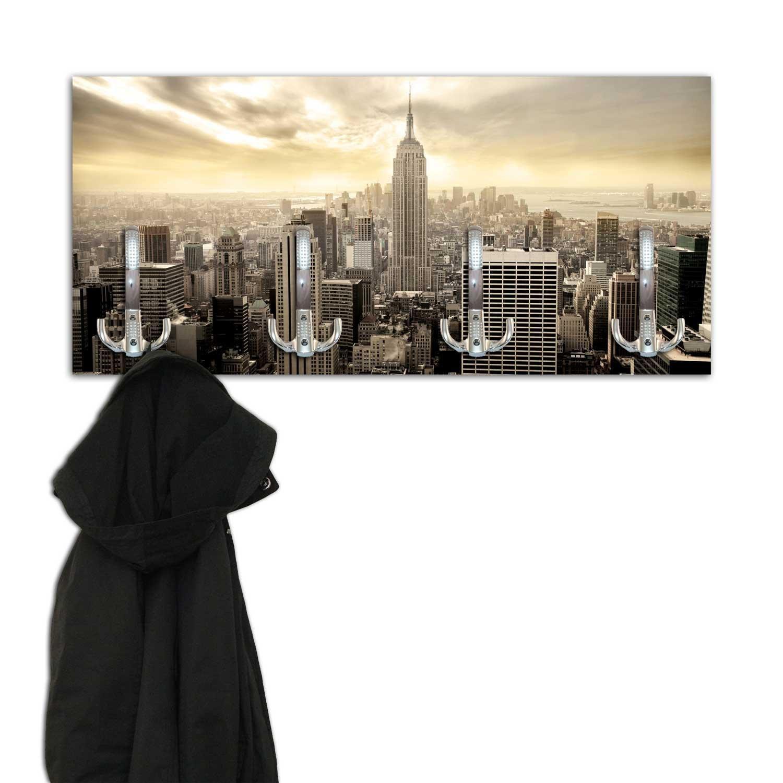 dalinda Perchero con diseño New York Skyline Pared Gancho ...