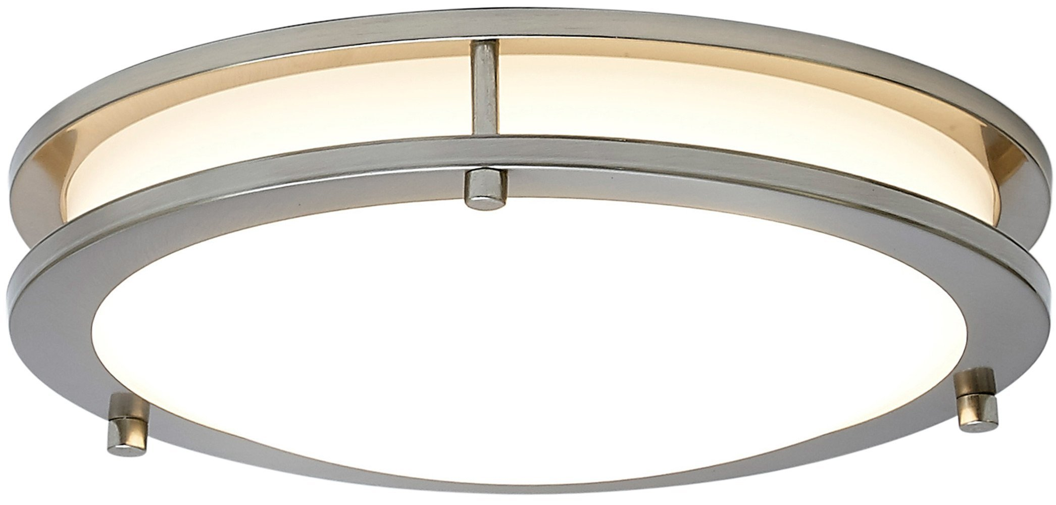 NEW Modern Round LED Ceiling Light | Contemporary Sleek Circular Design | Frosted Fixture with Brushed Aluminum | 3000K Warm White Dimmable LED 12''