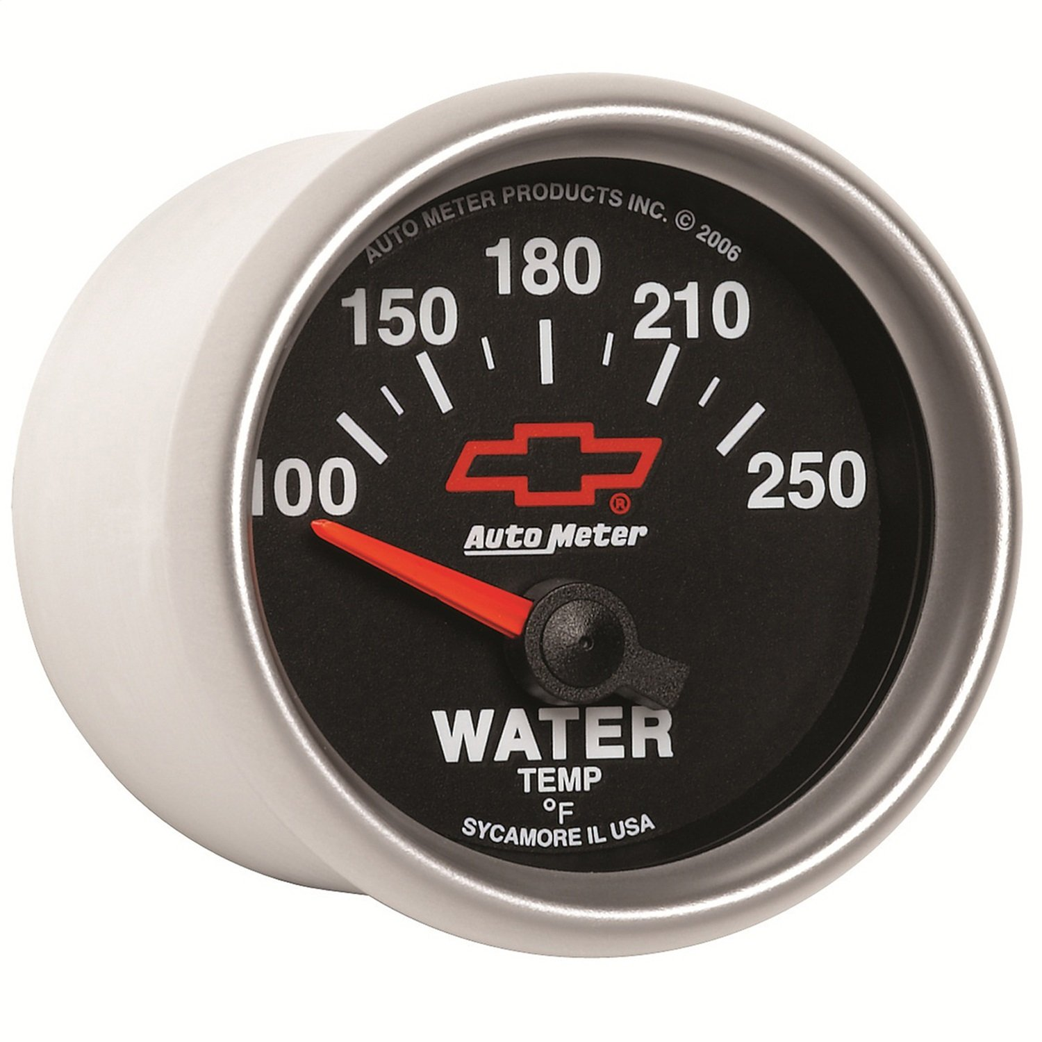 Auto Meter 3637-00406 GM Performance Parts Red 2-1/16'' 100-250 Degree Fahrenheit Short Sweet Electric Water Temperature Gauge
