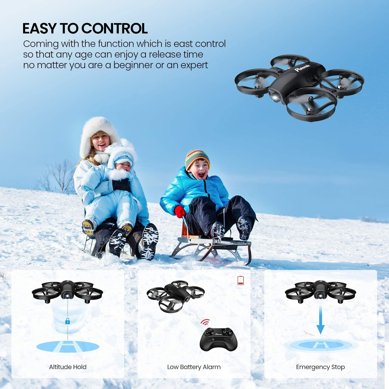 Headless-Modus Potensic Mini Drohne A30 mit 2 Akkus One-Key Start // Landung Schwarz H/öhenlage Speed-Modus tragbar RC Quadrocopter 2.4G 6-Achsen-Fernbedienung