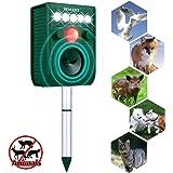 Solar Ultrasonic Animal Repellent, Wikoo Solar Ultrasonic Outdoor Animal Pest Repellent, Waterproof Animal Repeller Deterrent Scarer - Motion-Activated
