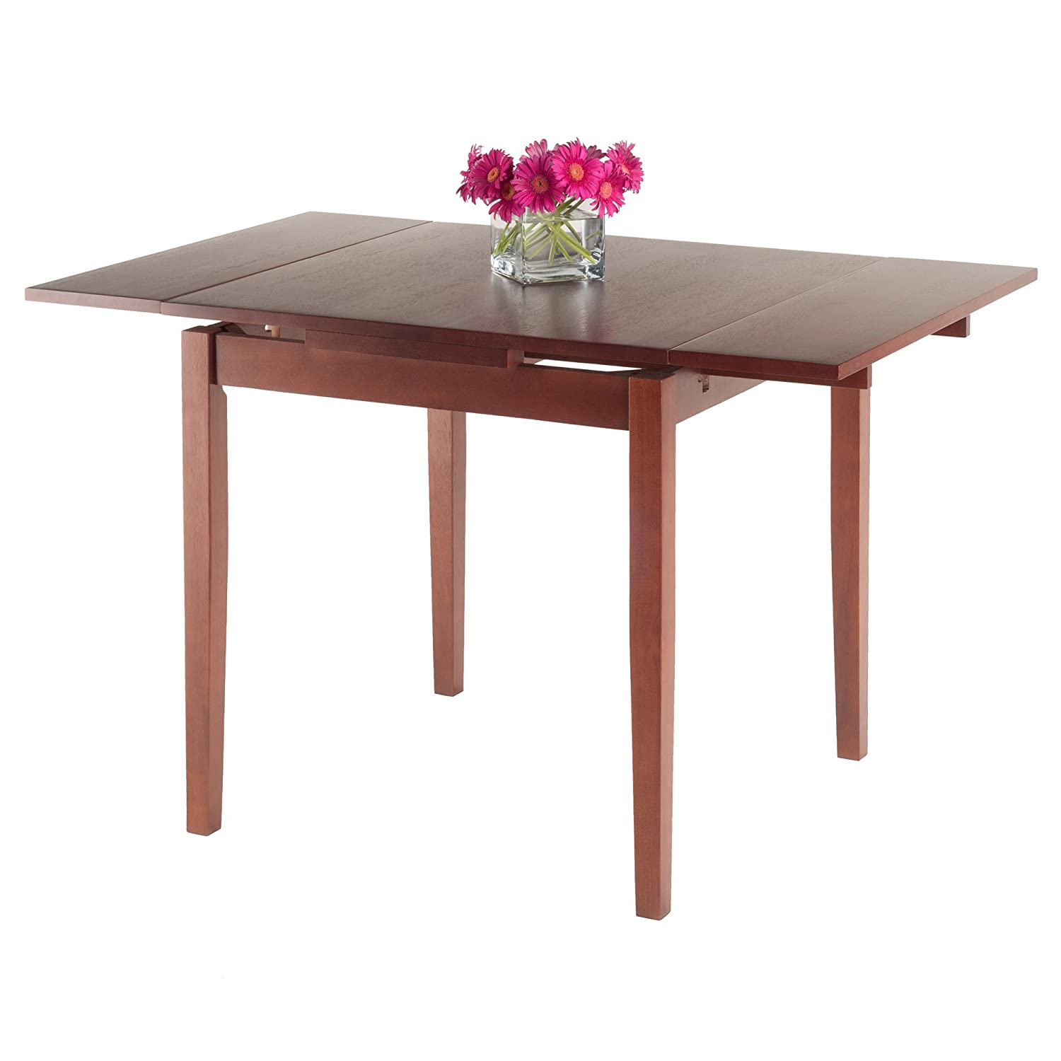 Amazon Winsome Wood Walnut Pulman Extension Table Tables