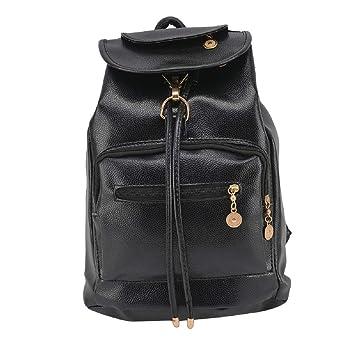 PetHot Womens PU Leather Backpack School Bag Casual Shoulder Daypack Rucksack  College Satchel Travel Bags Knapsack 075278dceac7d