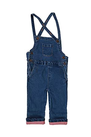 dd88ae7e11d Xclusive Outlet Kids Denim Dungaree for Kids Boys and Girls (18-24 Months)