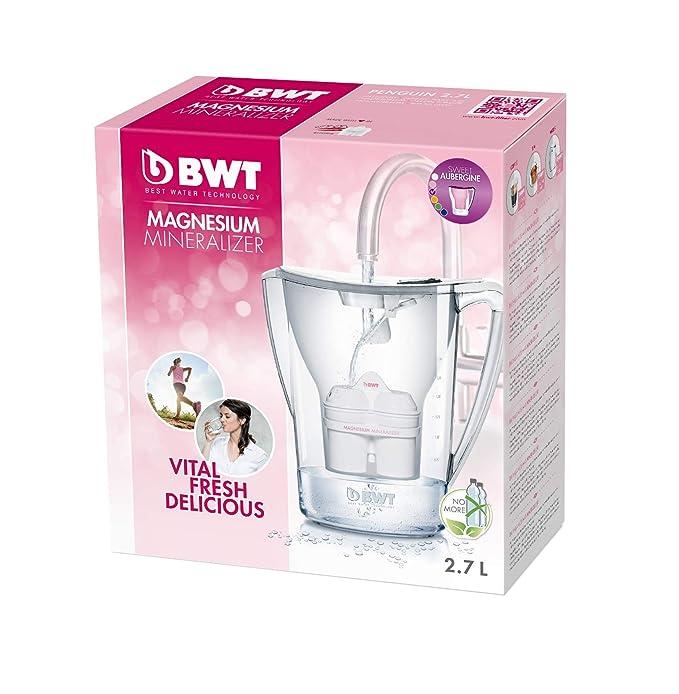 BWT Penguin Electrónica - Jarra filtradora de agua con magnesio 2,7L Violeta: Amazon.es: Hogar