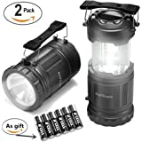 LED Camping Lantern-2 Pack Swiftrans Ultra Bright Flashlights Portable Collapsible Camping Equipment for Survival, Emergence, Outdoor Hiking, Hurricanes, Storms, Outages