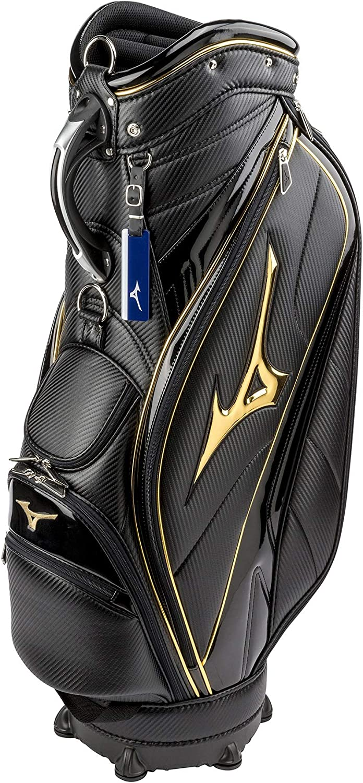 MIZUNO(ミズノ) ゴルフ キャディーバッグ RB STYLE 1904 キャディバッグ メンズ カートタイプ 5分割/9.5型/47インチ対応 5LJC190400 ブラック×ゴールド(0950)